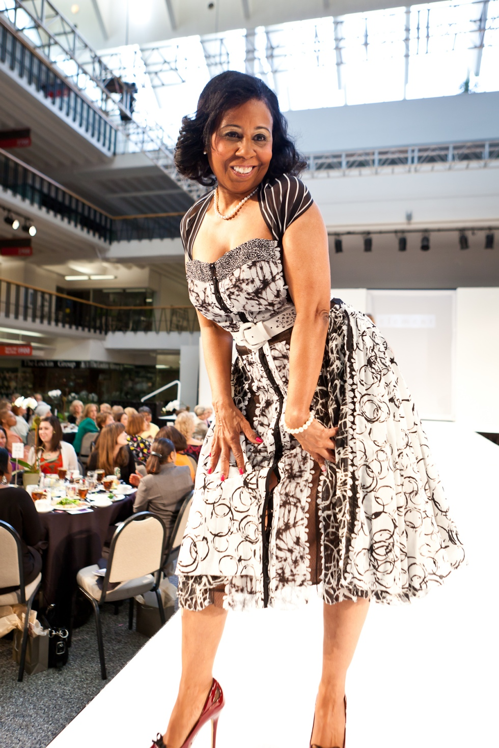 Eveyln Earl walking the runway for the 