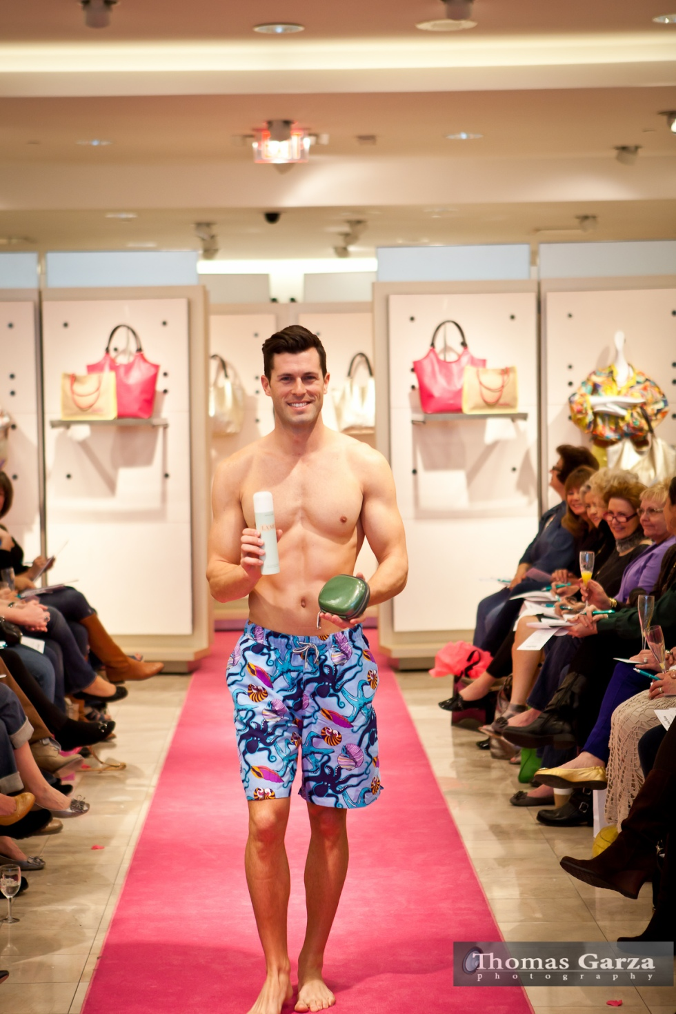 Male Model at a fashion event in Dallas Photo Credit Thomas Garza