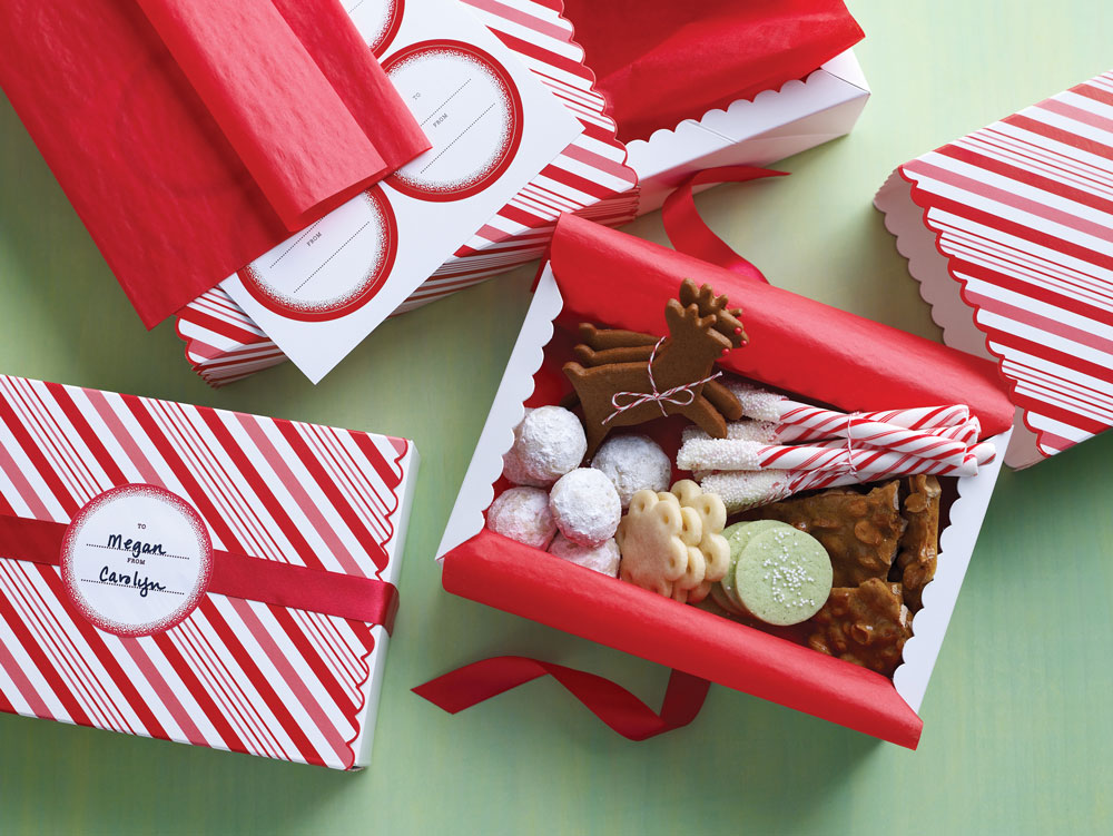 Candy Cane Matchboxes from Martha Stewart Crafts