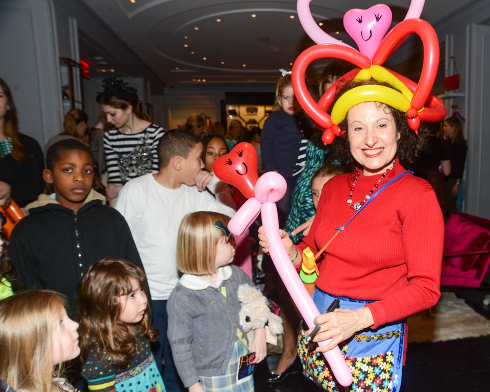 The Guest Clowing Around At The Milly Madison Ave Store in NYC Photo Credit BFA