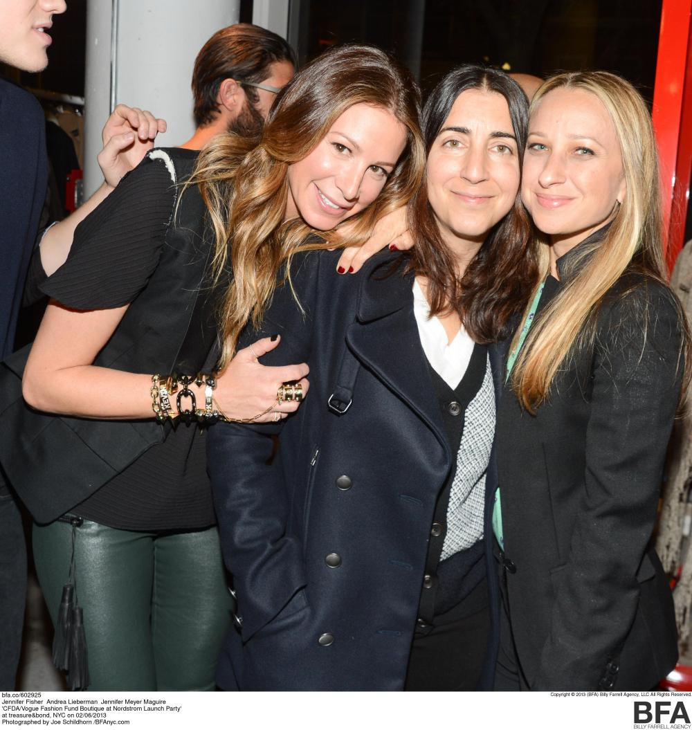 Guest Jennifer Fisher, Andrea Lieberman, and Jennifer Meyer Maguire at the CFDA Vogue Fashion Fund Party in NYC Photo Credit Nordstrom