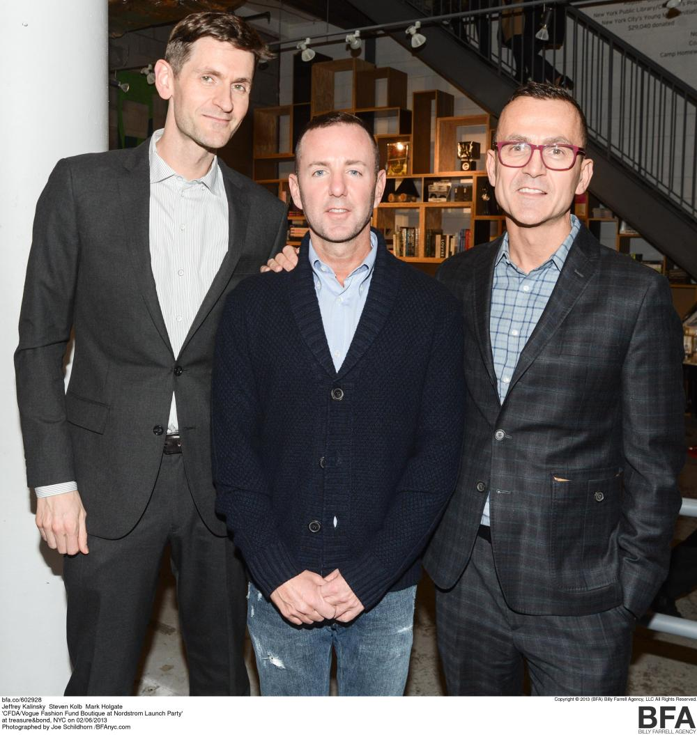 Jeffrey Kalinsky, Steven Kolb, and Mark Holgate at the CFDA/Vogue Fashion Fund Event in NYC Photo Credit Nordstrom
