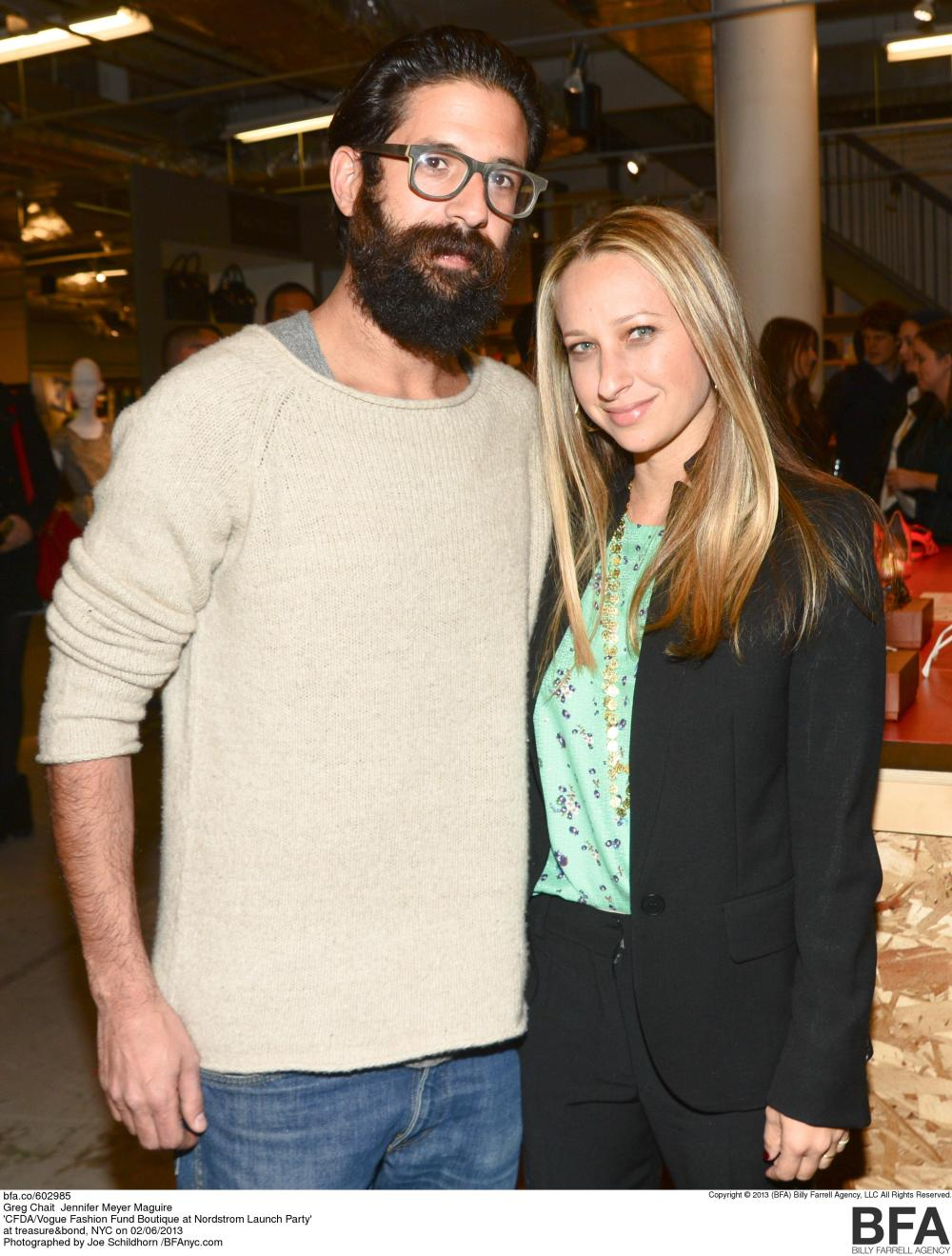 CFDA/Vogue Fashion Fund Winner Greg Chait and Jennifer Meyer Maguire Photo Credit Nordstrom