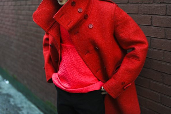 Beautiful Red Coat from New York Fashion Week
