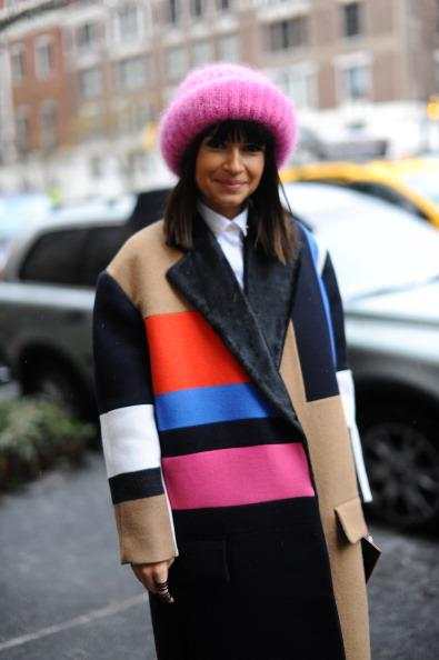 New York Fashion Week Colorful Coats