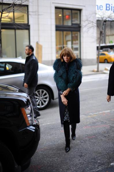 Vogue Editor and Chief Anna Wintour at New York Fashion Week