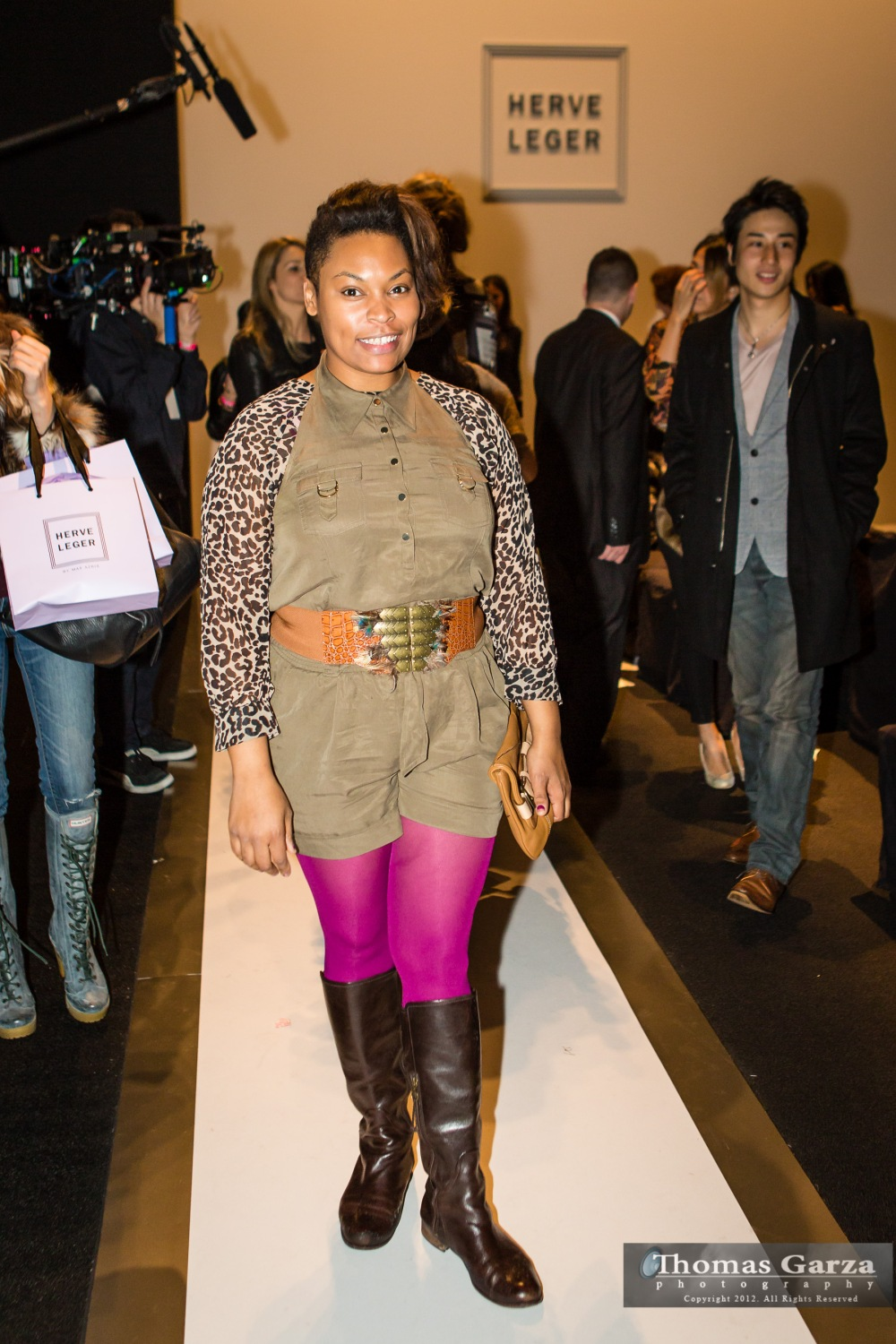 Brandy Voirin, Bites of Style Founder at the Herve Leger NYFW 2013 Show