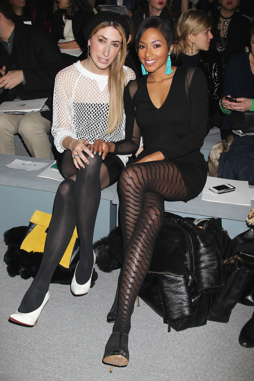 Lauren RaeLevy and Alicia Quaries Front Row at The Milly NYFW 2013 Show