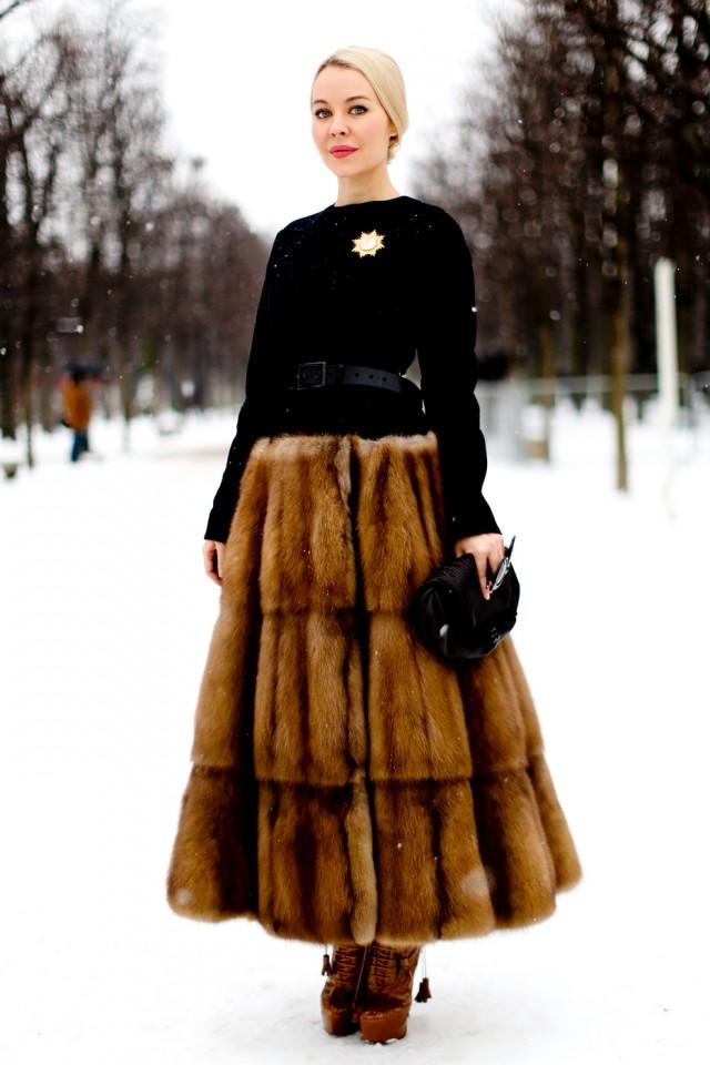 Women outside Paris Fashion Week 2012