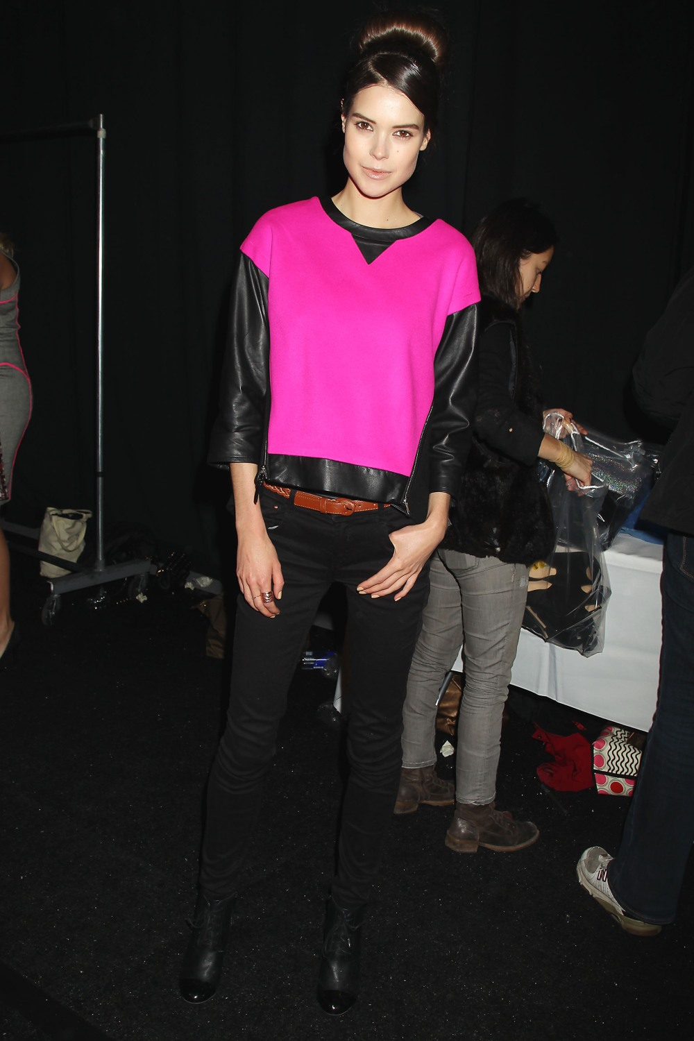 Sarah Macklin at The MILLY fashion show for NYFW 2013