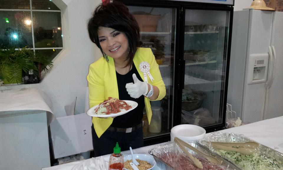 Tiffiny Luong Giving Back by Serving Food at A Homeless Shelter  Photo Credit Tiffiny Luong