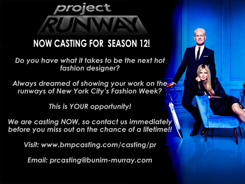 Project Runway Casting Flyer