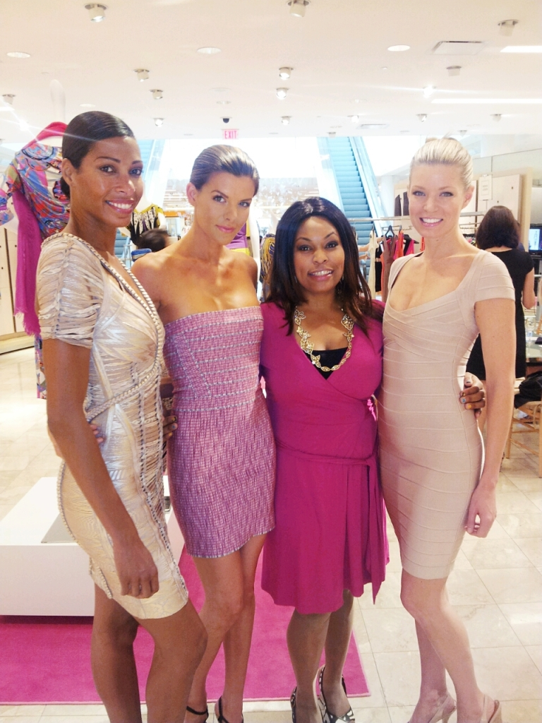 Brandy Voirin with Herve Leger Models at Neiman Marcus Photo Credit Brandy Voirin