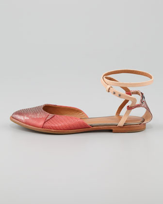 Rachel Roy Lizard Wrap Flats $225 Photo Credit NM