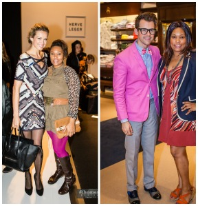 Brandy Voirin and model Petra and Stylist Brad Goreski and Brandy Voirin