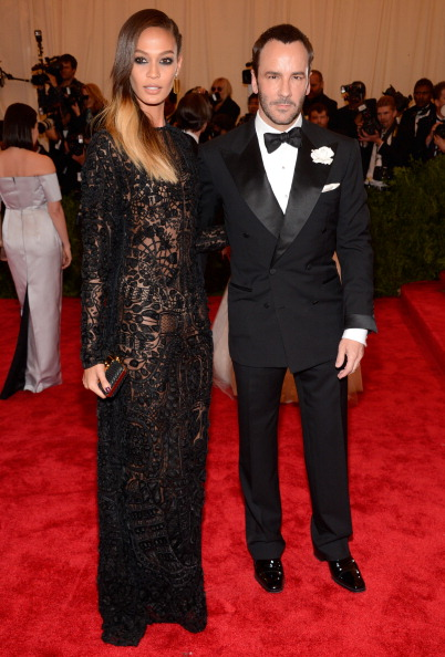 "oan Smalls and Tom Ford attend the Costume Institute Gala for the ""PUNK: Chaos to Couture"" exhibition at the Metropolitan Museum of Art on May 6, 2013 in New York City.  (Photo by Kevin Mazur/WireImage)"