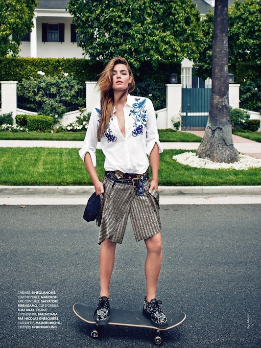 Ben Morris for Elle France No. 3519 featuring Bambi Northwood-Blyth