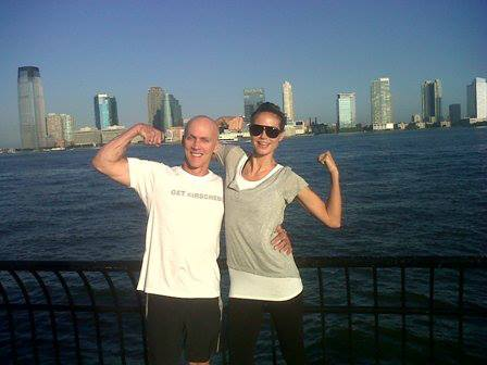 David Kirsch and Heidi Klum Working out in NY  Photo via DavidKirsch.com