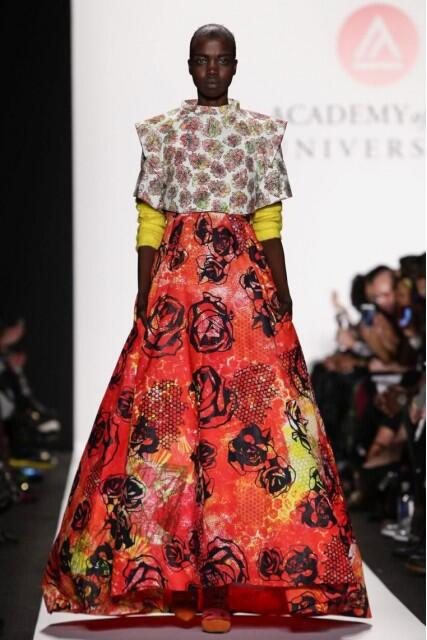 Dress from The Art Institute Fashion Show during MBFW Fall 2014 ( Photo Credit: fashion gps)