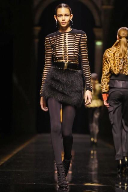 Balmain AW 14-15 Collection Paris Fashion Week Photo: NOWFASHION