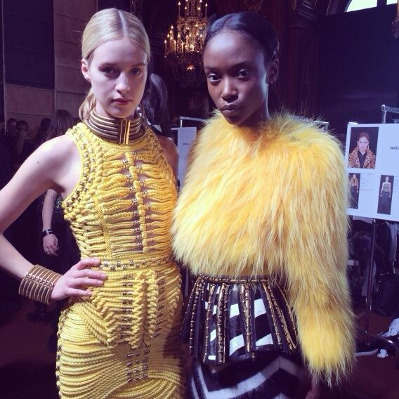 Backstage at Balmain AW 14 -15 Paris Fashion Week