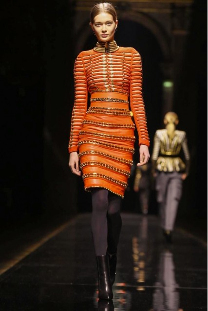 Balmain AW 14- 15  Photo Credit: NOWFASHION