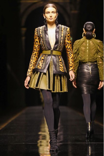 Balmain AW 14-15 Paris Fashion Week  Photo: NOWFASHION