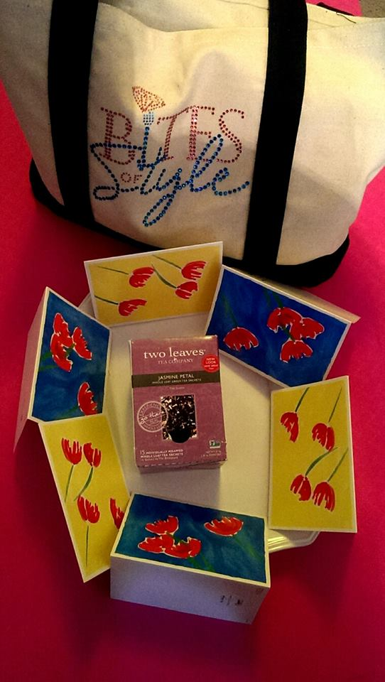 Thank you cards and tea for Gifts with Love ( Photo Credit: BOStyle Team)
