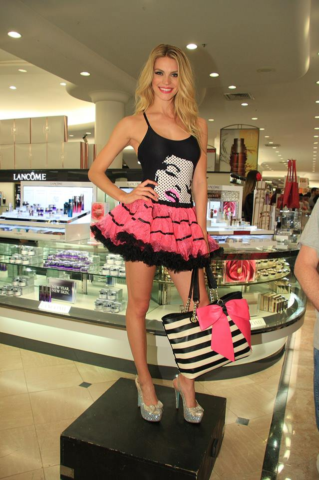 Betsey Johnson model wearing at tutu at Dillard's North Park Mall
