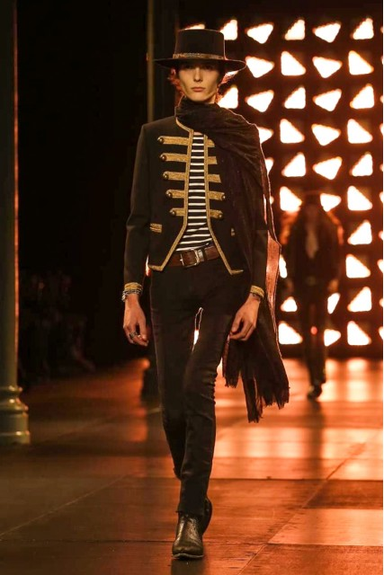 Saint Laurent SS15 Mens via Paris Fashion Week