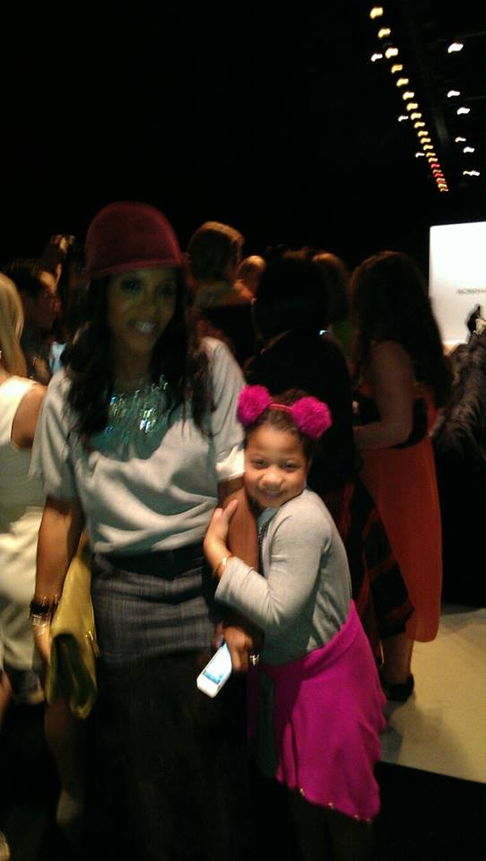 June Ambrose and her daughter Summer at MBFW Fall 2013 New York ( Photo Credit: Bites of Style)
