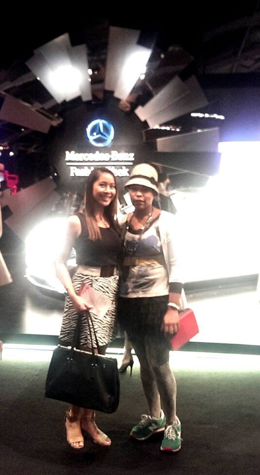 Mercedes-Benz Fashion Week Spring 2015 Shows Bites of Style founder Brandy Sebastian and writer Grace Yco)
