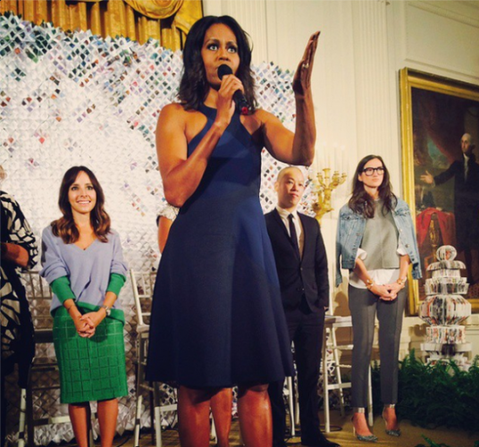 First Lady Michelle Obama Fashion Education at the White House Image Coco Fab